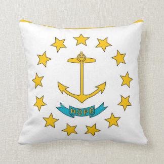 ロードアイランドの州の旗のアメリカ人のMoJoの枕 クッション