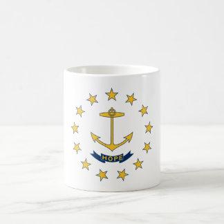 ロードアイランドの州の旗のコーヒーカップのマグ コーヒーマグカップ