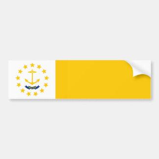 ロードアイランドの州の旗のデザイン バンパーステッカー