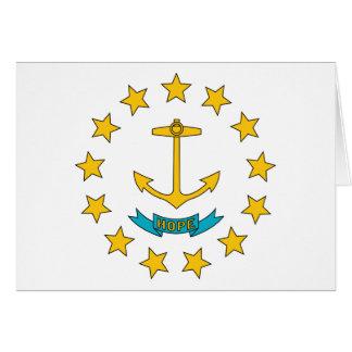 ロードアイランドの州の旗 カード