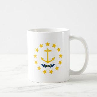 ロードアイランドの州の旗 コーヒーマグカップ