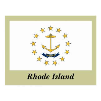 ロードアイランドの州の旗 ポストカード