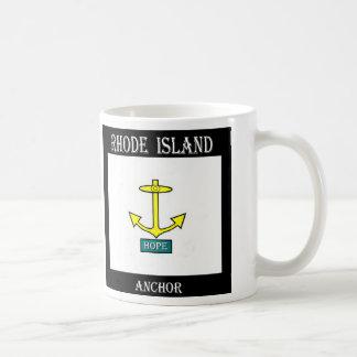 ロードアイランドの希望のいかり コーヒーマグカップ