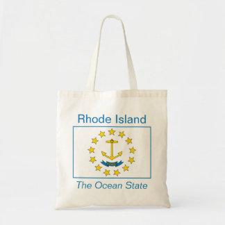 ロードアイランドの旗のバッグ トートバッグ