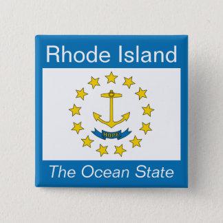 ロードアイランドの旗ボタン 缶バッジ