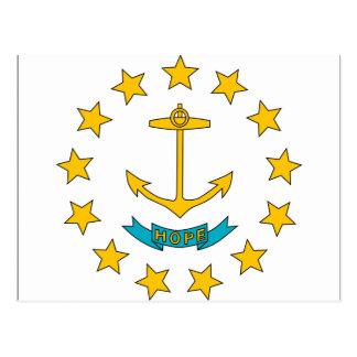 ロードアイランドの旗 ポストカード