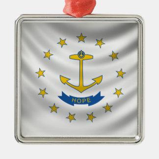 ロードアイランドの旗 メタルオーナメント
