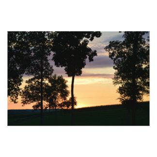 ロードアイランドの日没 フォトプリント
