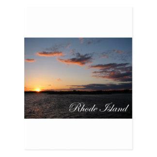 ロードアイランドの日没 ポストカード