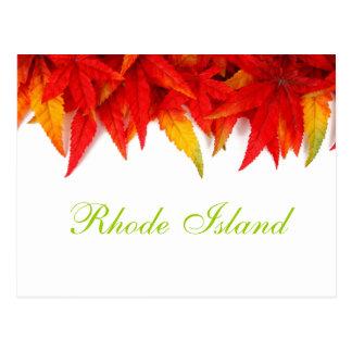 ロードアイランドの紅葉の郵便はがき ポストカード