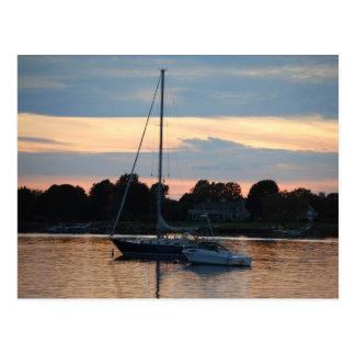 ロードアイランドの設定の帆 ポストカード