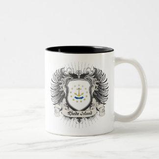 ロードアイランドの頂上 ツートーンマグカップ