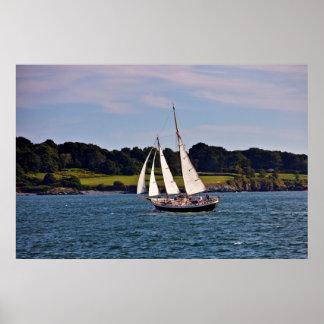 、ロードアイランドニューポートで航海します、米国 ポスター