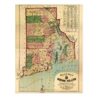 ロードアイランド及びプロヴィデンスのプランテーション地図(1880年) ポストカード