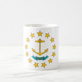 ロードアイランド州米国の旗が付いているマグ コーヒーマグカップ