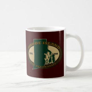 ロードアイランド米国東部標準時刻1790年 コーヒーマグカップ