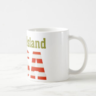 ロードアイランド米国! コーヒーマグカップ