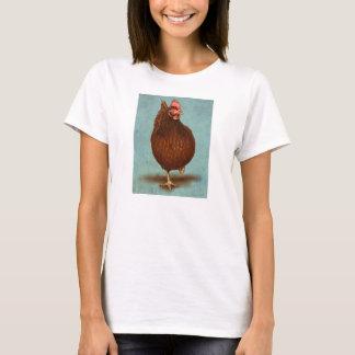 ロードアイランド赤の雌鶏の女性のワイシャツ Tシャツ