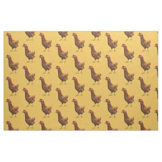 ロードアイランド赤の雌鶏の鶏の生地 ファブリック