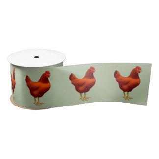 ロードアイランド赤の雌鶏 サテンリボン