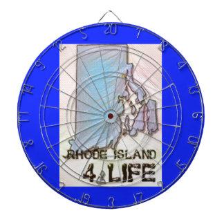 """""""ロードアイランド4生命""""の州の地図のプライドのデザイン ダーツボード"""