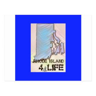 """""""ロードアイランド4生命""""の州の地図のプライドのデザイン ポストカード"""