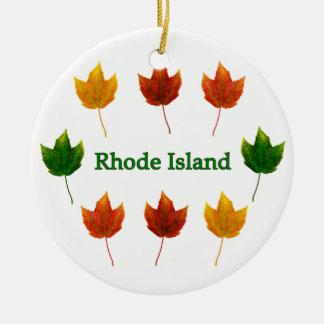 ロードアイランド(アメリカハナノキの葉) セラミックオーナメント