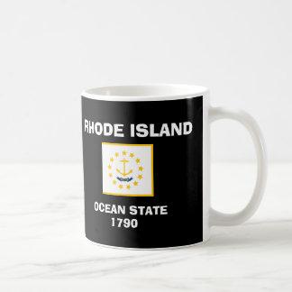 ロードアイランド*旗のマグ コーヒーマグカップ