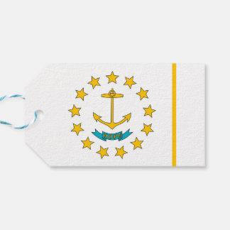 ロードアイランド、米国の旗が付いているギフトのラベル ギフトタグ