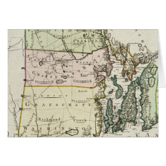 ロードアイランド(1797年)のヴィンテージの地図 カード