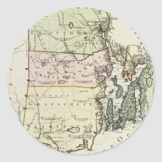 ロードアイランド(1797年)のヴィンテージの地図 ラウンドシール