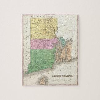 ロードアイランド(1827年)のヴィンテージの地図 ジグソーパズル