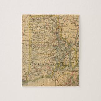 ロードアイランド(1875年)のヴィンテージの地図 ジグソーパズル