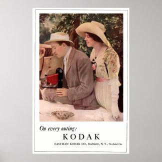 ロードスターとのピクニック。 1912.頃 ポスター