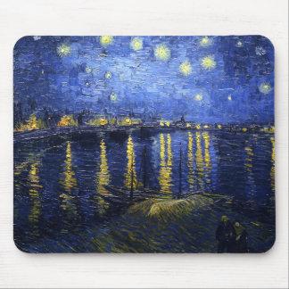 ローヌマウスパッド上のゴッホの星明かりの夜 マウスパッド