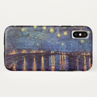ローヌ上のゴッホの星明かりの夜、ファインアート iPhone X ケース