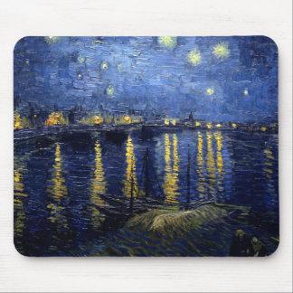 ローヌ上のゴッホの星明かりの夜 マウスパッド