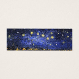 ローヌ上のフィンセント・ファン・ゴッホの星明かりの夜 スキニー名刺