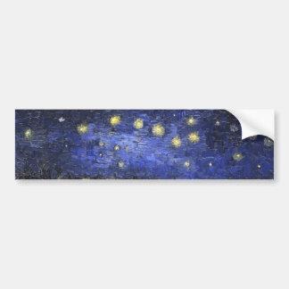 ローヌ上のフィンセント・ファン・ゴッホの星明かりの夜 バンパーステッカー