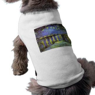ローヌ上のフィンセント・ファン・ゴッホの星明かりの夜 ペット服