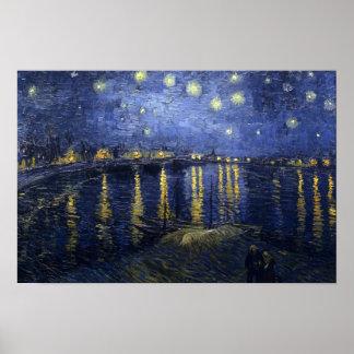 ローヌ上の星明かりの夜 ポスター