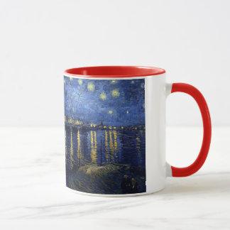 ローヌ上の星明かりの夜 マグカップ
