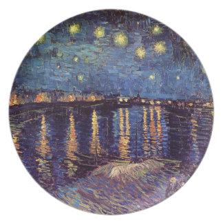 ローヌ-ゴッホ上の星明かりの夜 プレート