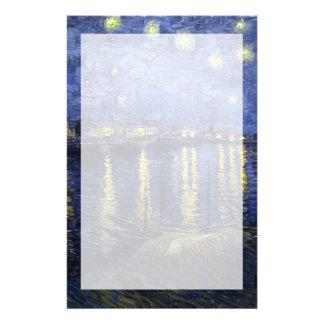 ローヌ| 1888年上のゴッホ|の星明かりの夜 便箋