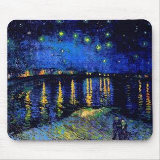 ローヌ(F474)ファインアート上のゴッホの星明かりの夜 マウスパッド