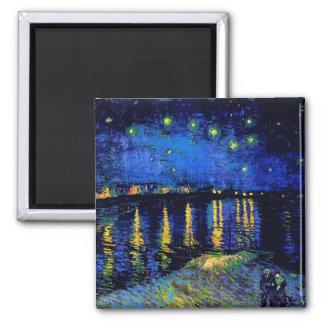 ローヌ(F474)ファインアート上のゴッホの星明かりの夜 マグネット