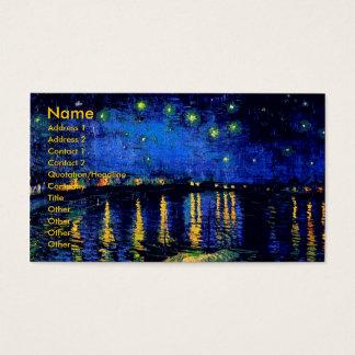 ローヌ(F474)ファインアート上のゴッホの星明かりの夜 名刺