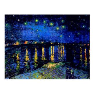 ローヌ(F474)ファインアート上のゴッホの星明かりの夜 葉書き