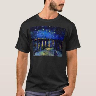 ローヌ(F474)ファインアート上のゴッホの星明かりの夜 Tシャツ