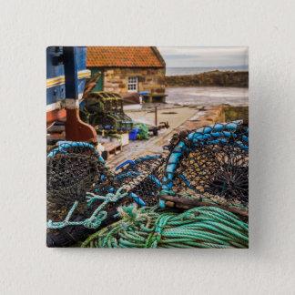 ロープおよびエビ取りかご| Pittenweem、スコットランド 5.1cm 正方形バッジ